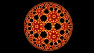 Hyperbolic Tiled Circle by DeepZoom