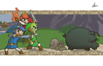 Tri Force Heroes in Their Time Off by Il-Piccolo-Torero