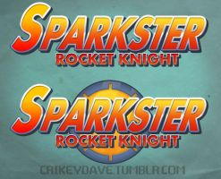 Commission: Sparkster Rocket Knight logo by SupaCrikeyDave
