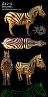 ZEBRA video game model by macawnivore