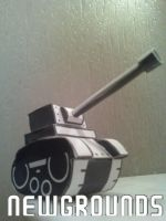 Newgrounds Tank Papercraft Finished by rubenimus21