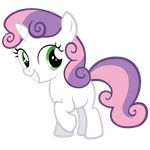 Standing Sweetie Belle Smiling by Sky-Wrench