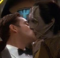 Garak Bashir kiss by Caes-Doodles
