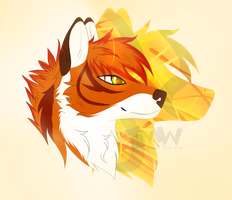 Thierry the tiger wolf headshot .:Commission:. by TheMidnightWhispers