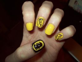 Batman Nails by ffishy21