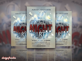 Electro Bass Party Free Flyer Template Psd by designfreebie