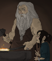 the Hobbit : grandfather and grandson by LadyNorthstar