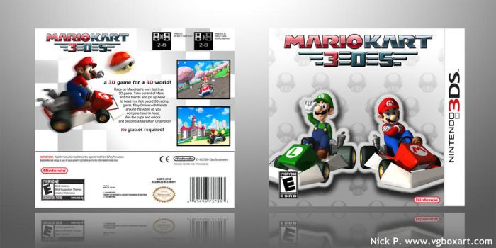 Mario Kart 3DS BoxArt by GreaseMuffin