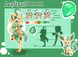 Leaferald Reference {Pokegems} by MissAquaAnime