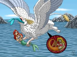 Angel-Gryph and Mermaids by Goldy--Gry