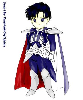 Chibi Prince Endymion lineart coloring process 3 by animelover101411