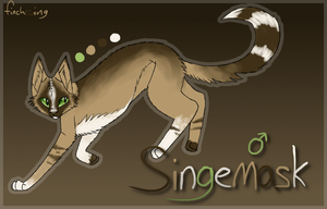 Singemask reference sheet by Finchwing