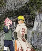 NaruSaku at the fourth ninja war by Bleach-Fairy