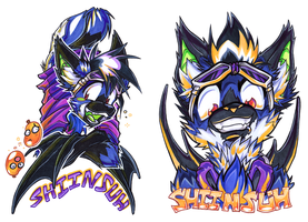 COM: ShiinSuh Badge Pair by carnival