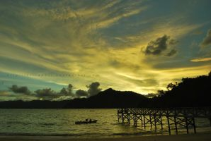 sunset in karanggongso by KFT-Andri