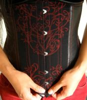 Printed Underbust Corset by volatilevisions