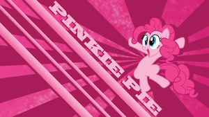 Pinkie pie happy wallpaper by rhubarb-leaf