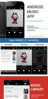Android Music App - Ice Cream Sandwich by Febernovo