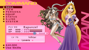 Rapunzel's Persona Status (with Ishtar) by SantosPhillipCarlo