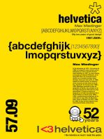 I heart helvetica by Monoxidepr
