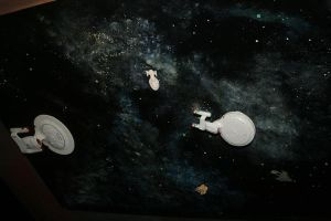 Star Trek Space Ceiling Painting by SevinRox