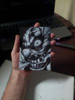 Palm sized evil joker by MagnaSicParvis