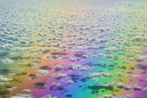 Real photo of a rainbow form Air Plane by tares003316