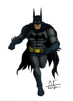 Batman Running - Coloured by Stone-Fever