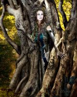 Golden Wood Dryad by susanschroderarts