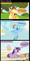 Ponies Vs. Banana by Maiximillion3564