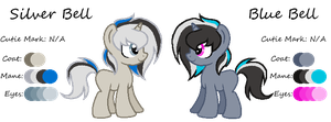 MLP:Silver Bell and Blue Bell Profile by kiananuva12
