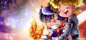 Sailor Mars and Jedite Siggy by TheChaos0
