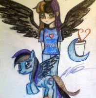 Blue moon coffee hooves human form by mistresscarrie