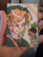 ACEO OOT Link and deku kid by kawaiidchan