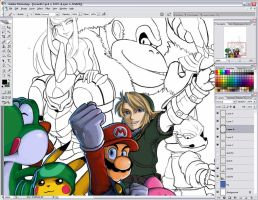 Brawl WIP by Bonus-kun