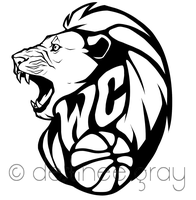WC Lion Basketball Logo by iRaynebow