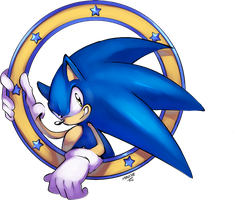 Sonic ID coloured by EVMousser