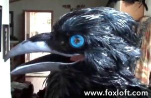 Raven Mask - Moving Beak Video by Foxfeather248