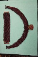 Dragon scale Necklace-Bracelet : blood and iron by dragoneye1843