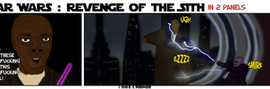 Revenge of Sith in 2 Panels by Cilmeron