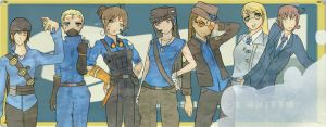 Blu Team TF2 by water-panda-chan