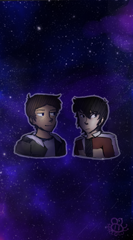 Gays in space redraw by Hallowbee