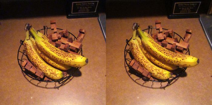 Stereograph - Banana with Puzzle by alanbecker