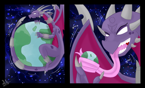 Cynder Climbs 2/2 by Mew-tew