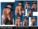 Lady Mad Hatter Portrait Pack6 by mizzd-stock