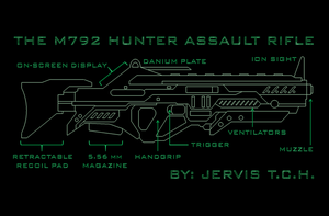 M792 Hunter Assault Rifle by Universe-of-Dusk