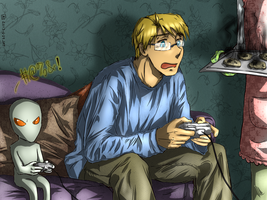 [USUK] Scones and game night by KJCandy