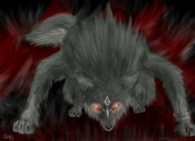 Creepy Wolf Link by neecolette