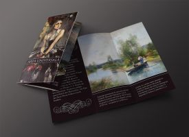 Trifold Art Expo brochure by Lymos