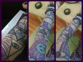 Cecil tattoo sleeve. by xErnieselephantsx